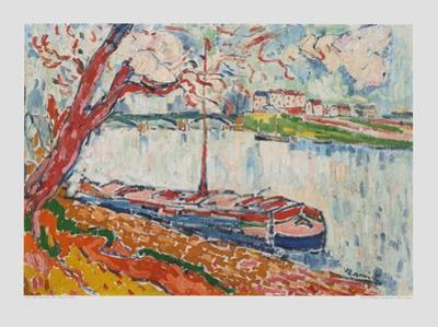 Freighter on the Seine at Chatou by Maurice de Vlaminck