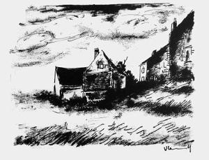 La Potiniere a Rueil by Maurice De Vlaminck
