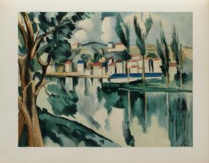 La Seine a Chatou, 1908 by Maurice De Vlaminck