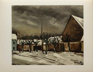 Les Tilleuls Sous la Neige, 1952 by Maurice De Vlaminck