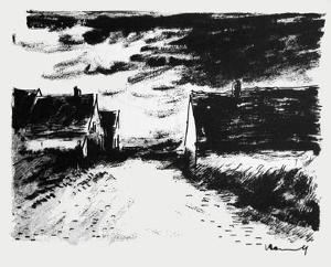 Maisons dans la Beauce by Maurice De Vlaminck