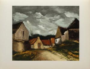 Village de la Sarthe, 1953 by Maurice De Vlaminck