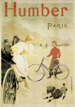 Poster Advertising 'Humber' Bicycles, 1900 by Maurice Deville