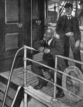 Conrad, Typhoon, on Deck by Maurice Greiffenhagen