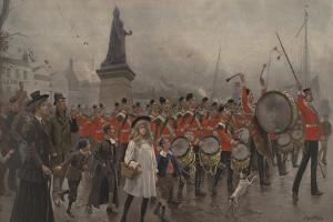 Off to the Front - Yorkshire Regiment, 1899 by Maurice Henri Orange