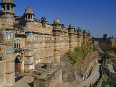 The Walls of Gwalior Fort, Madhya Pradesh, India