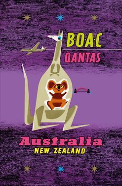 Australia - New Zealand - BOAC (British Overseas Airways Corporation) by Maurice Laban