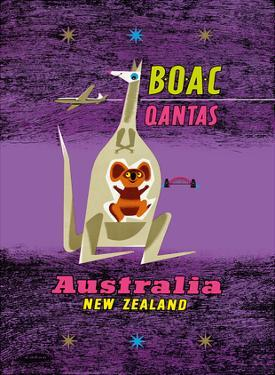 Australia - New Zealand - BOAC (British Overseas Airways Corporation) by Maurice Laban