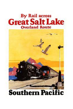 By Rail Across The Greal Salt Lake, Overland Route. by Maurice Logan