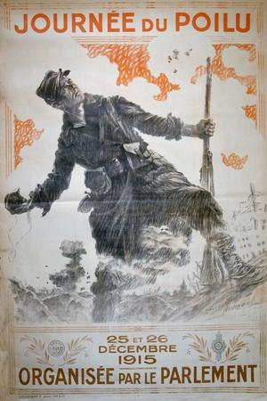 Journée Du Poilu 25 Et 26 Décembre 1915, French World War I Poster, 1915