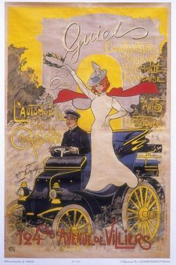 Poster Advertising Car Coachwork, 1899 by Maurice Neumont