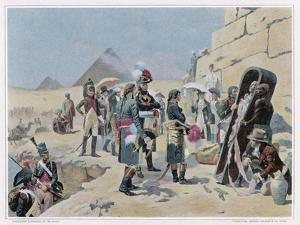 Egyptian Campaign Napoleon with the Savants Contemplates the Antiquities of Egypt by Maurice Orange