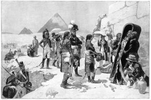 Napoleon Bonaparte Inspecting a Mummy at the Pyramids, 1801 by Maurice Orange