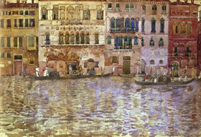 Venetian Palaces on the Grand Canal, 1899 by Maurice Prendergast