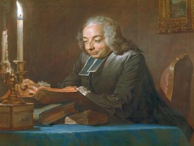 Abbe Jean-Jacques Huber, 1742 by Maurice Quentin de La Tour
