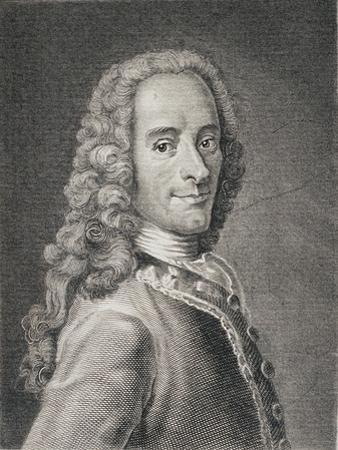 Francois Marie Arouet De Voltaire by Maurice Quentin de La Tour