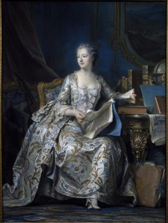 Madame de Pompadour by Maurice Quentin de La Tour