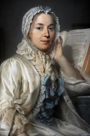 Madame Ferrand Meditating on Newton, 1753 by Maurice Quentin de La Tour