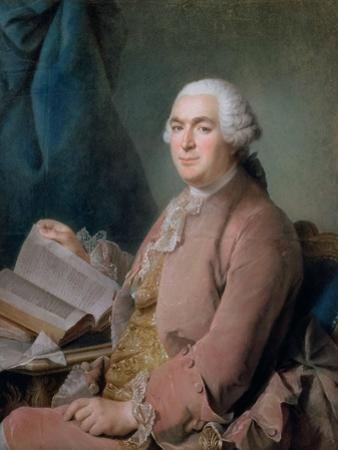 Portrait of a Seated Gentleman with a Book by Maurice Quentin de La Tour