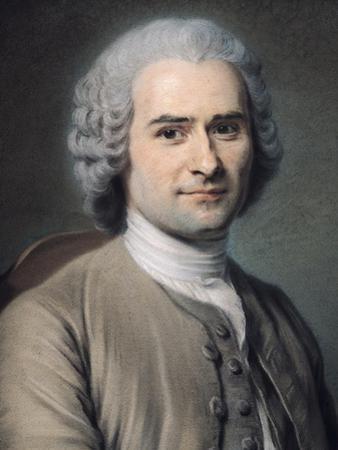 Portrait of Jean Jacques Rousseau (1712-78) by Maurice Quentin de La Tour