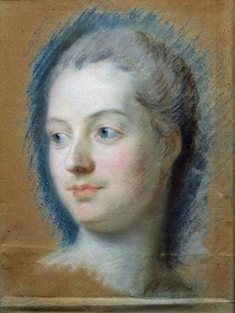 Portrait of Madame de Pompadour by Maurice Quentin de La Tour