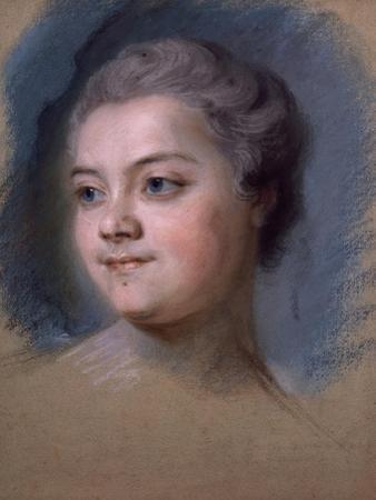 Portrait of Mademoiselle De Chastagner De Lagrange by Maurice-quentin De La Tour