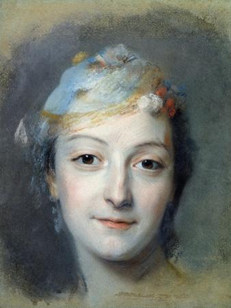 Portrait of Marie Fel 1757 by Maurice Quentin de La Tour