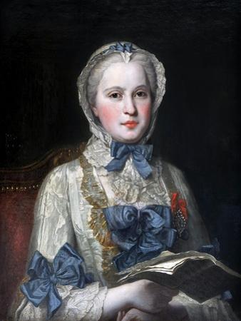 Portrait of Princess Maria Josepha of Saxony by Maurice Quentin de La Tour