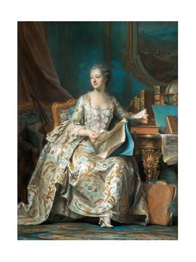 Portrait of the Marquise De Pompadour (1721-176) by Maurice Quentin de La Tour