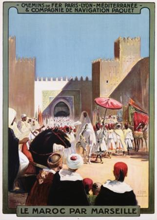 Le Maroc Par Marseille Poster by Maurice Romberg