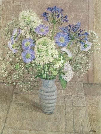 Still Life with White Phlox, Blue Agapanthus and Scabious by Maurice Sheppard