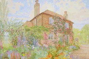 Summer Garden at Fairoakland, West Sussex, 1998 by Maurice Sheppard