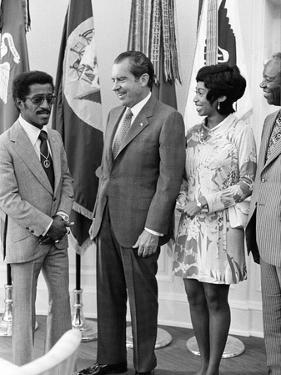 Sammy Davis Jr., Richard Nixon - 1971 by Maurice Sorrell