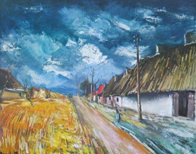 Thatched Cottages at the Roadside