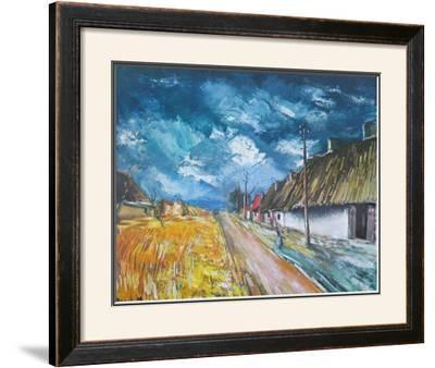 Thatched Cottages at the Roadside by Maurice Vlaminck