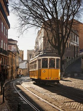 A Tramway in Alfama District, Lisbon by Mauricio Abreu
