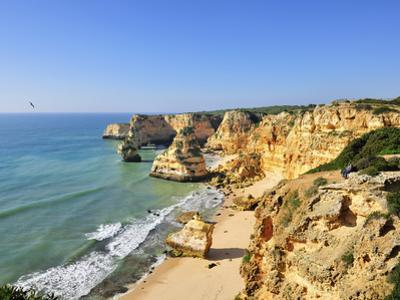 Marinha Beach Cliffs. Algarve, Portugal by Mauricio Abreu