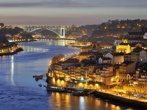 Oporto, Ribeira, UNESCO World Heritage Site at Dusk, Portugal by Mauricio Abreu