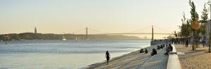 Ribeira Das Naus Esplanade, Along the Tagus River. Lisbon, Portugal by Mauricio Abreu