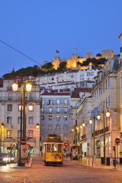 Sao Jorge Castle and Praca Da Figueira at the Historic Centre of Lisbon. Portugal by Mauricio Abreu