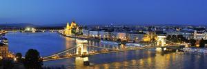 Szechenyi Chain Bridge and the Parliament at Twilight, Budapest, Hungary by Mauricio Abreu