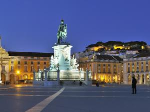 Terreiro Do Paco at Twilight, One of the Centers of the Historical City, Lisbon, Portugal by Mauricio Abreu