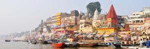 The Ghats Along the Ganges River Banks, Varanasi, India by Mauricio Abreu