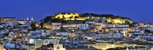 The Historical Centre and the Sao Jorge Castle at Dusk, Lisbon, Portugal by Mauricio Abreu