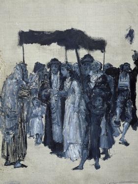 Jewish 'Huppa' (Wedding) 1876 by Maurycy Gottlieb