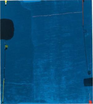 Diptychon Blau, c.1963 by Max Ackermann