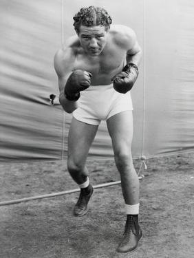 Max Baer, Former World Heavyweight Champion at His Training Camp in Speculator, Ny
