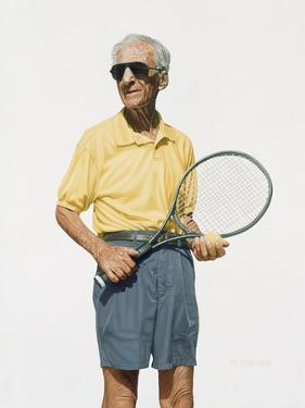 Man with Tennis Racket, 2004 by Max Ferguson