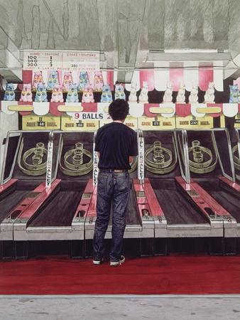 Skee Ball, Self Portrait (Coney Island) 1990