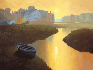 Boat at Sunrise by Max Hayslette